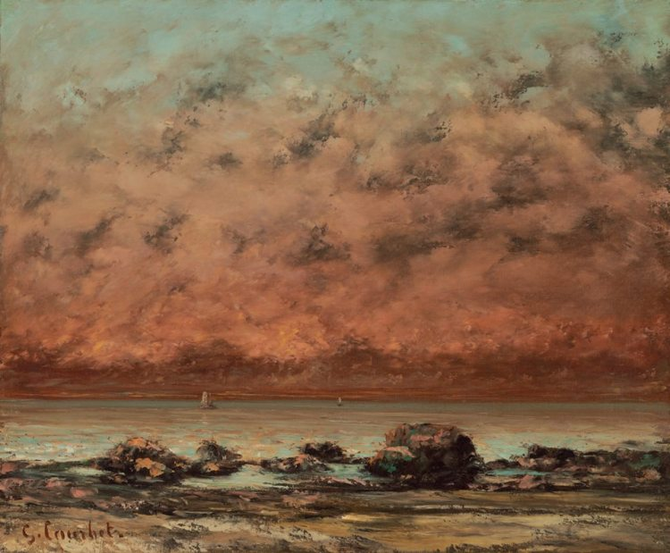 "Gustave Courbet, ""The Black Rocks at Trouville,"" 1865:1866, oil on canvas"
