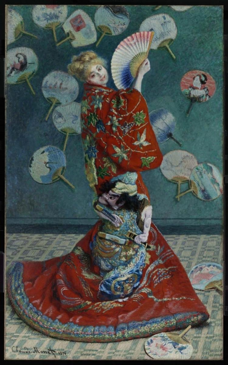 Claude Monet - La Japonaise, Madame Monet en Kimono