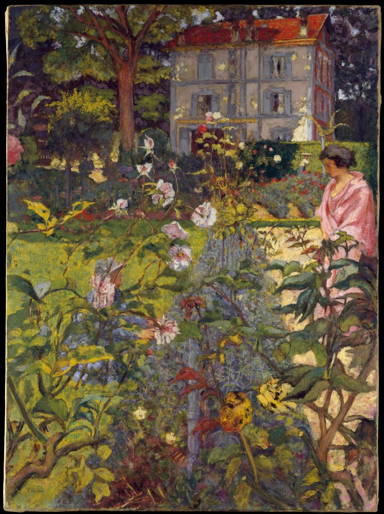 Édouard Vuillard - Garden at Vaucresson, 1920 Distemper on canvas, (151.1 x 110.8 cm). Metropolitan Museum of Art, New York
