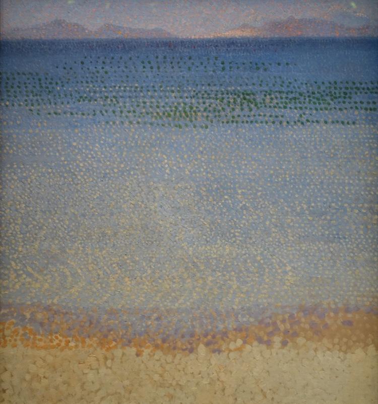 Les îles d_Or, Henri-Edmond Cross, entre 1891 et 1892, huile sur toile, 54 x 59,5 cm, Paris, Musée d_Orsay