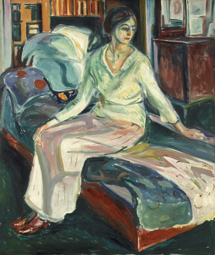 Munch of the week- Seated Model on the Couch, 1924-26