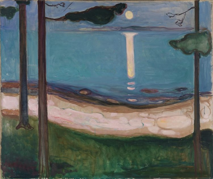 Edvard Munch- Moonlight, 1895 (The National Museum, Oslo)