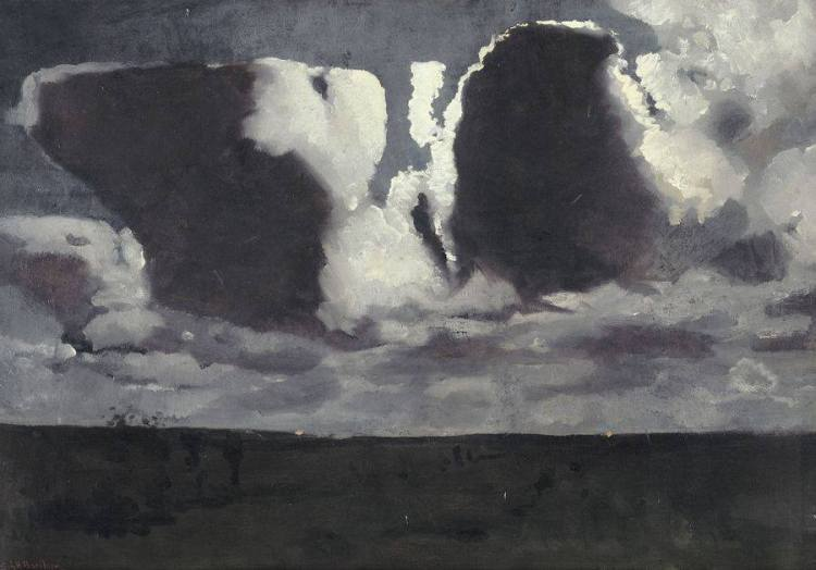 George Hendrik Breitner, Clair de lune (entre 1887 et 1889) 101 x 71 cm Paris, musée d'Orsay