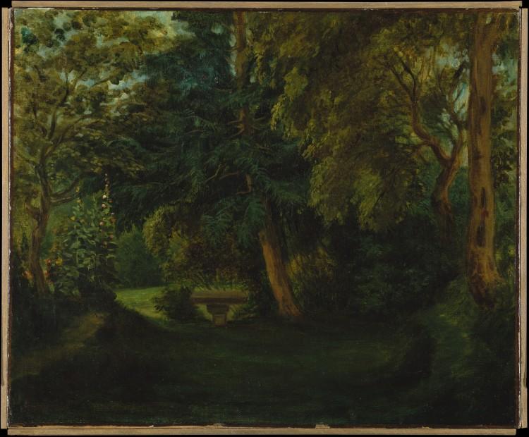 Le jardin de George Sand à Nohant_1840_Eugène Delacroix, huile sur toile_45,4x55,2 cm_The MET
