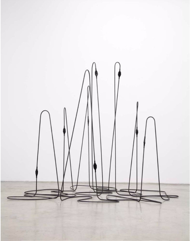 Tatiana Trouvé, Untitled 2008, Metal, rubber, 208 x 268 x 240 cm