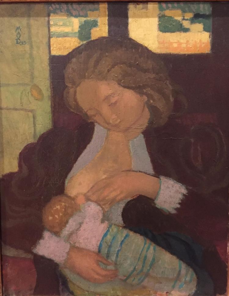Maternité aux manchettes de dentelle_1895_Maurice Denis_huile sur carton_Rennes musée des Beaux Arts copie