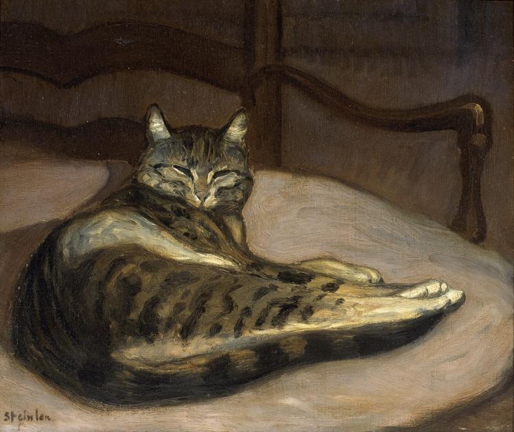 Chat sur un fauteuil - Théophile-Alexandre STEINLEN (1856 - 1923) - 1880