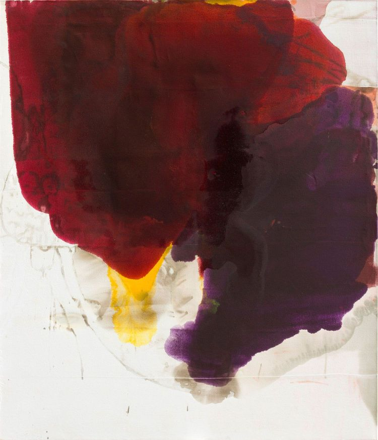 Dirk de Bruycker_Merger II_asphalt_cobalt drier_geso and oil on canvas_182,9 x 213,4 cm