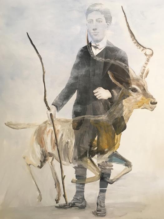Edi Dubien, Passage, 2017 Peinture sur toile — 162 × 130 cm