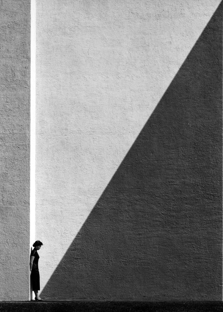 Fan Ho Approaching Shadow, Hong Kong, 1954