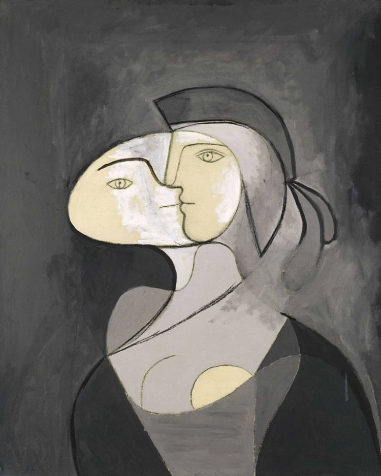 Pablo Picasso – Marie-Thérèse, Face and Profile, 1931 Oil and charcoal on canvas