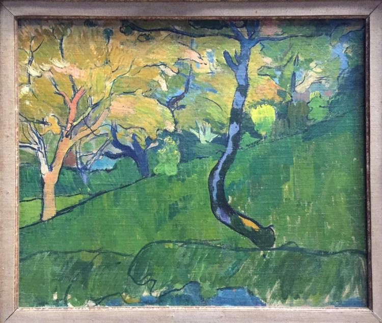 paysage à l'arbre bleu, 1889-1890, Meijer de Haan (1852-1895), huile sur toile, musée de Pont-Aven