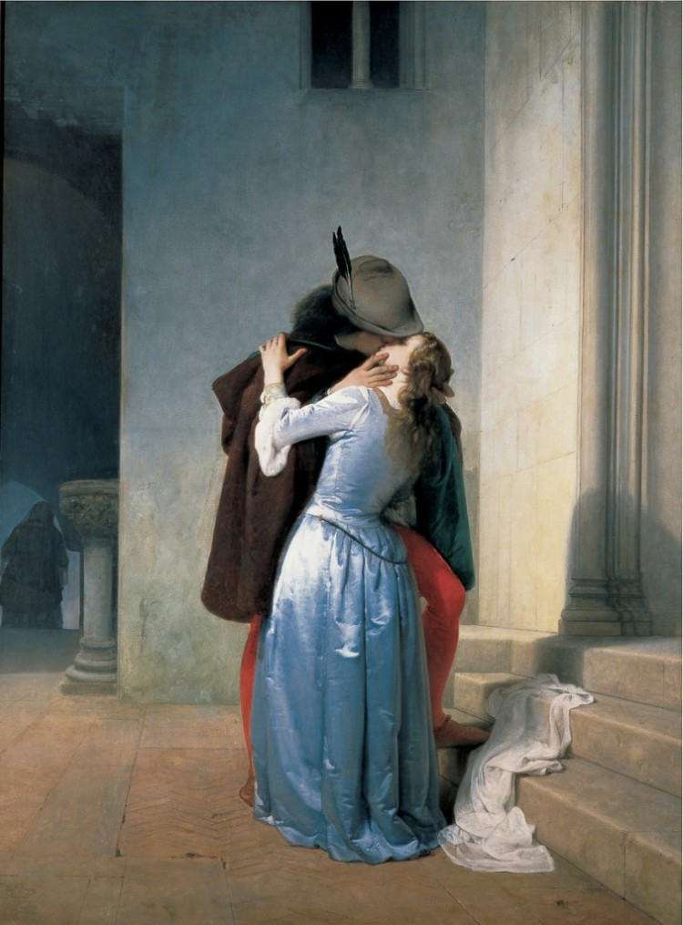 Il Bacio, 1867, Francesco Hayez, 1859, collection privée
