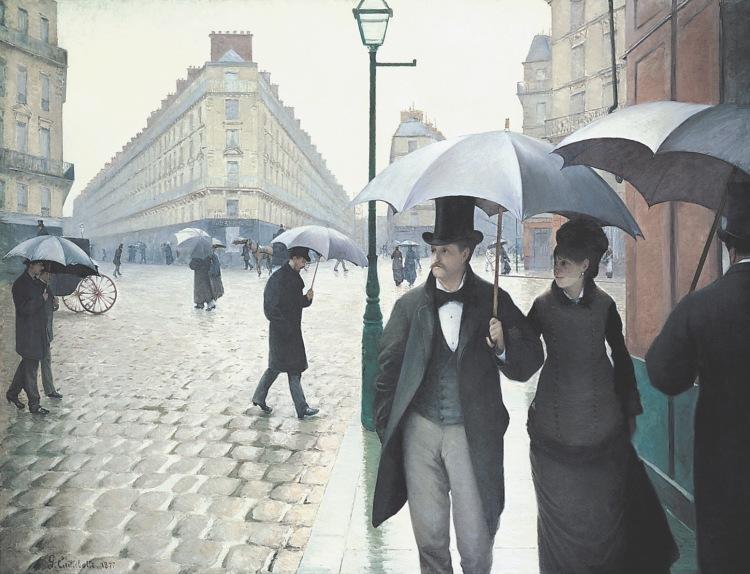 Paris jour de pluie Caillebotte