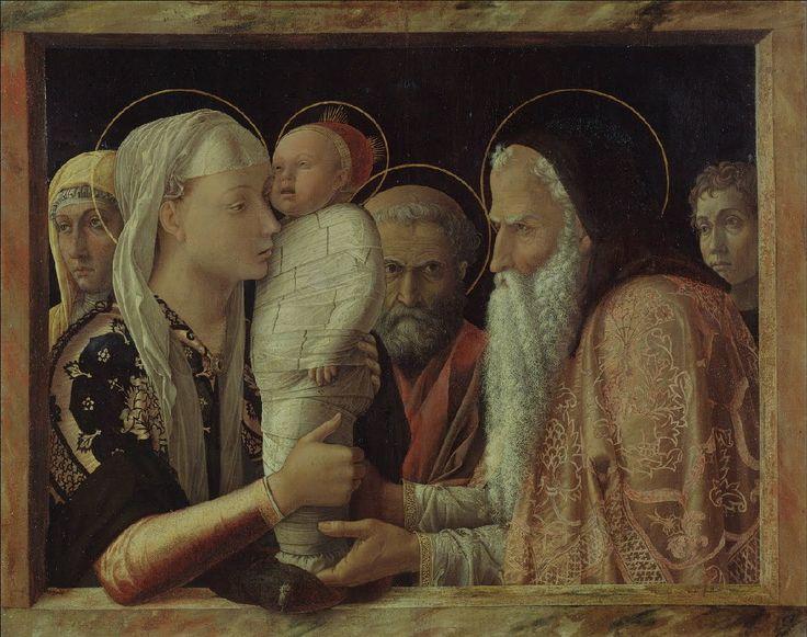 Présentation au temple, vers 1465, Andrea Mantegna (1431-1506), huile sur bois, 86,3 x 69 cm, Berlin, Gemäldegalerie, Staatliche museen