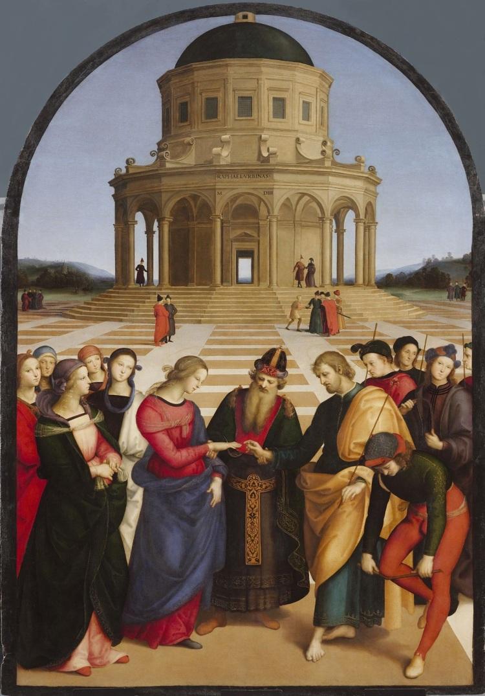 RAPHAËL, LE MARIAGE DE LA VIERGE, 1504, PINACOTHÈQUE DE BRERA À MILAN