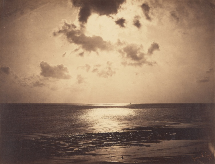 Gustave Le Gray (French, 1820 - 1884) An Effect of Sunlight - Ocean No. 23, 1857 to 1858, Albumen silver prints from glass negatives 32.1 × 41.8 cm (12 5:8 × 16 7:16 in.) The J. Paul G