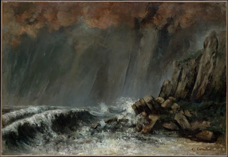 Trombe d'eau, 1870, Gustave Courbet (1819_1877), huile sur toile, 99,7 x 68,9 cm, NY MET