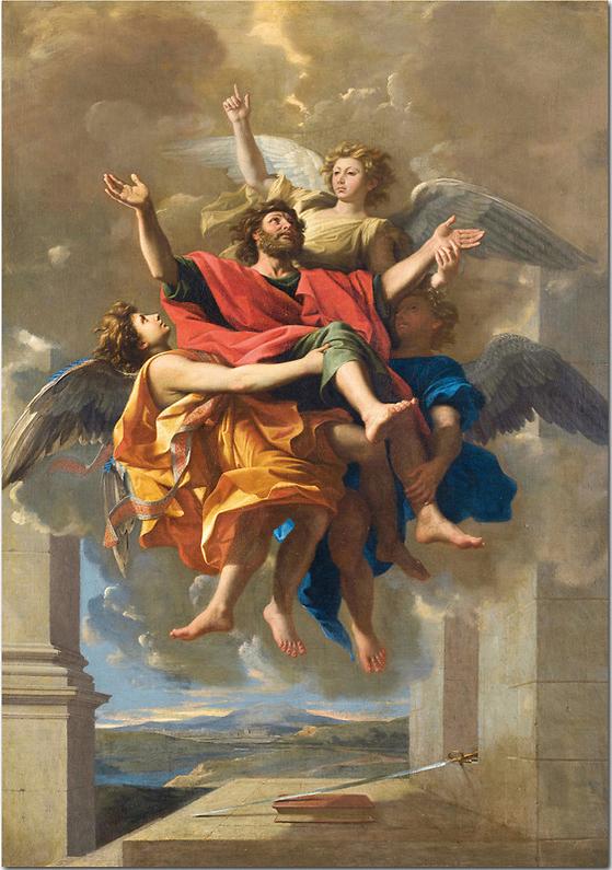 Le ravissement de Saint Paul Nicolas Poussin, 148 x 120 cm, huile sur toile 1650 Louvre