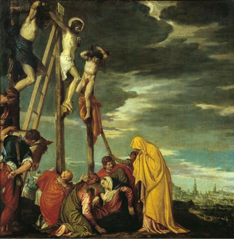Véronèse, La Crucifixion; Paris, Louvre102 x 102 cm 1570-1580