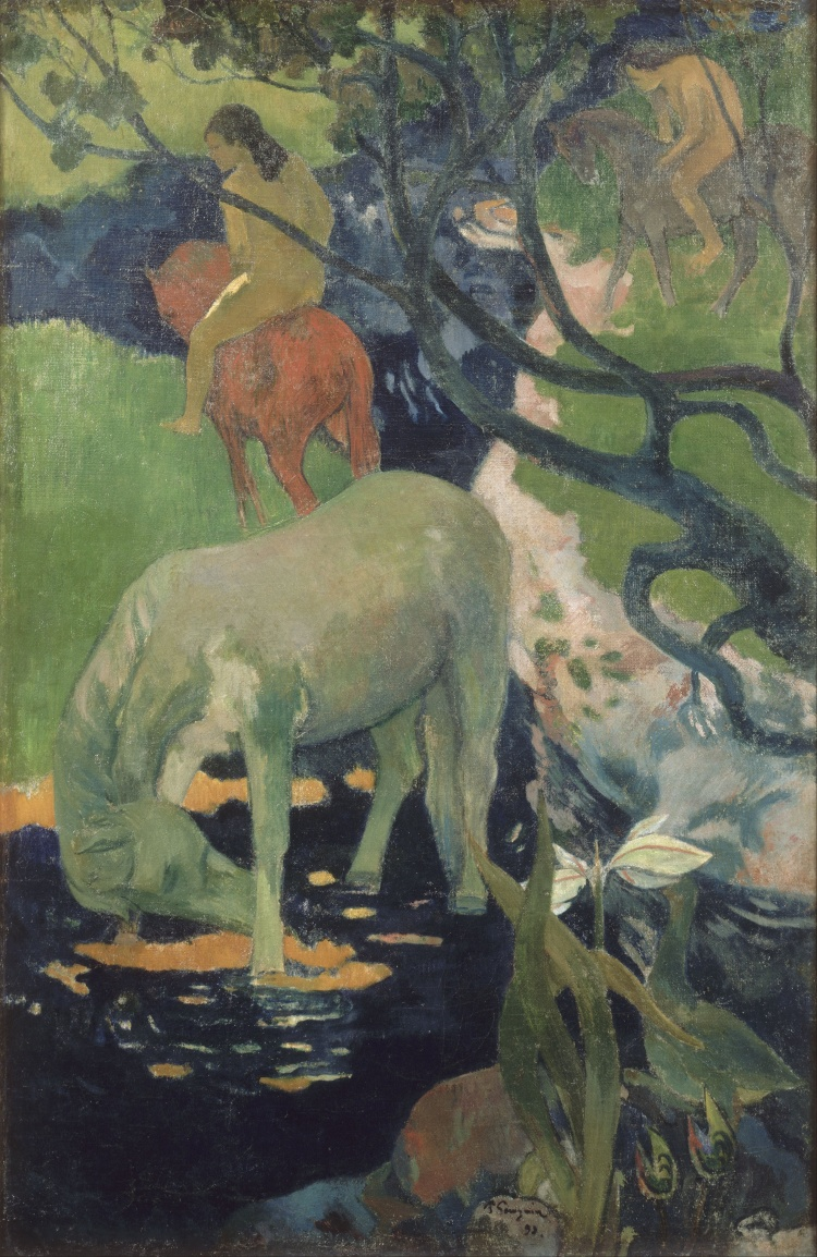 Paul_Gauguin_-_The_White_Horse_-_Google_Art_Project