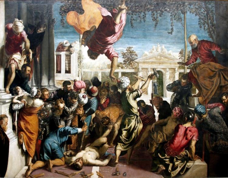 Scuola Grande di San Rocco_Lemiracle de l'esclave_Le Tintoret (1518-1594)_huile sur toile_54,1 x 41,5 cm_Venise Galleria dell''Accademia
