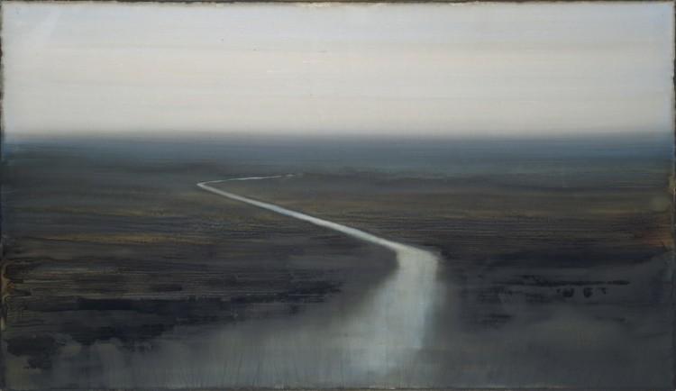 Christophe Cherel [+] Fleuve, 2011 Peinture 100 x 180 cm