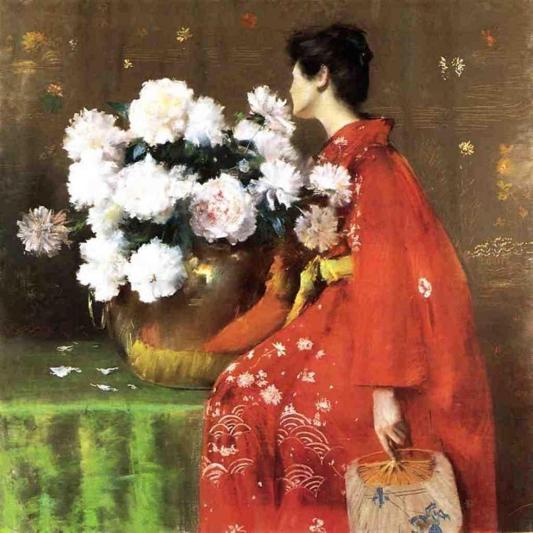 FLeurs de printemps, pivoines, 1889, William Merritt Chase, Pastel sur papier, 121,9 x 121,9 cm, Terra Foudation for American Art