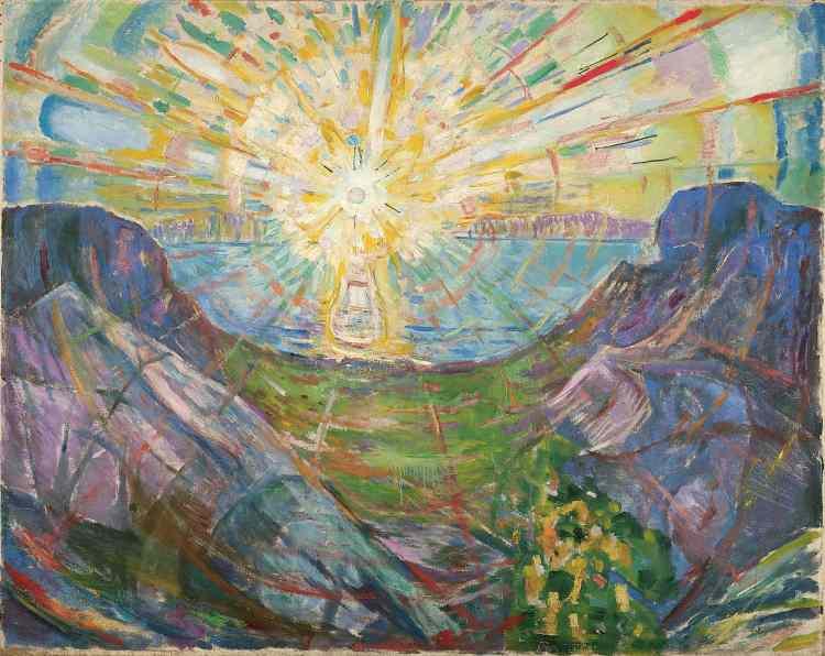 Le soleil, 1910-1913, Edvad Munch (1863-1944), huile sur toile, 162 x 205 cm, Oslo, Munch museum