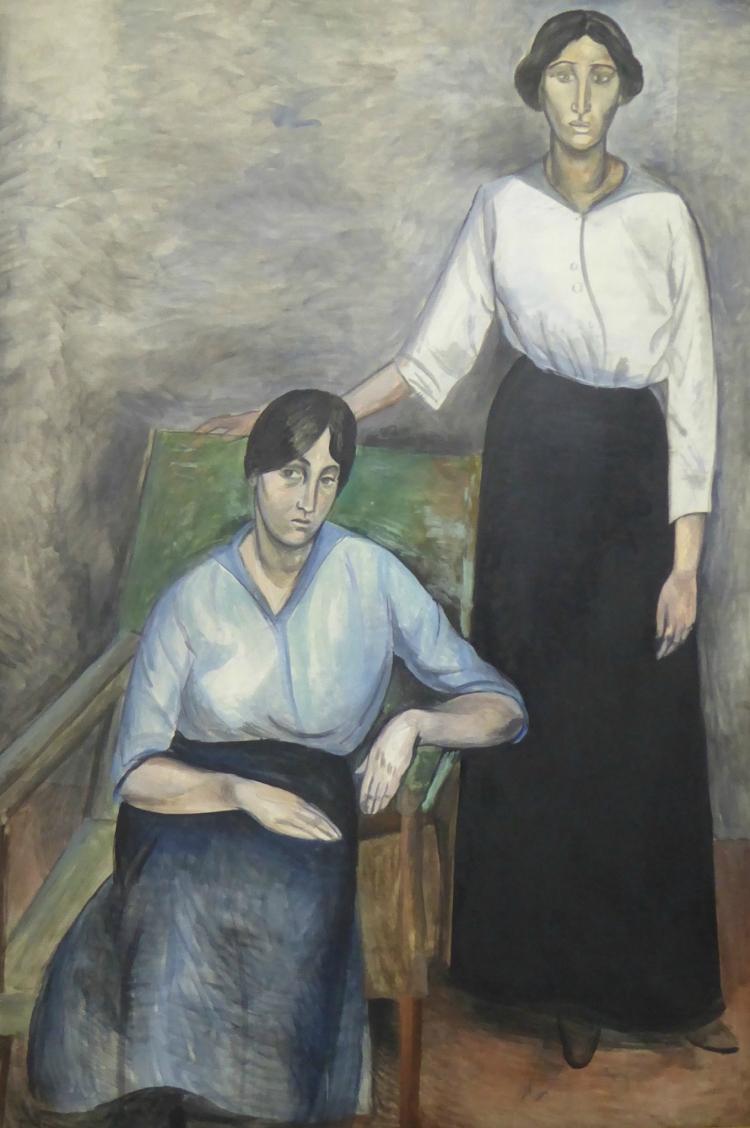 Les deux soeurs, 1914, André Derain (1880-1954), huile sur toile, 130,05 195,5 cm, Copenhague, Statens Museum for Kunst, Nationnal Gallery of Denmark