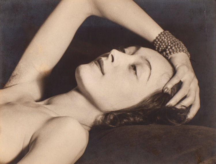 Man Ray 1890-1976. Nusch Eluard 1928. Photograph, gelatin silver print on paper. 175 x 225 mm. The Sir Elton John Photography Collection.