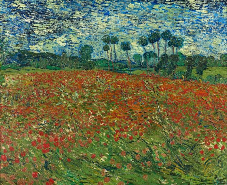 Champs de coquelicots, AUvers-sur-Oise, juin 1890, Vincent van Gogh (1853-1890), huile sur toile, 102 x 82,7 cm, La Hague, Gemeentemuseum Den Haag