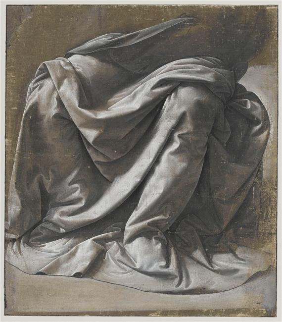 Draperie pour une figure assise Vinci Léonard de (1452-1519)