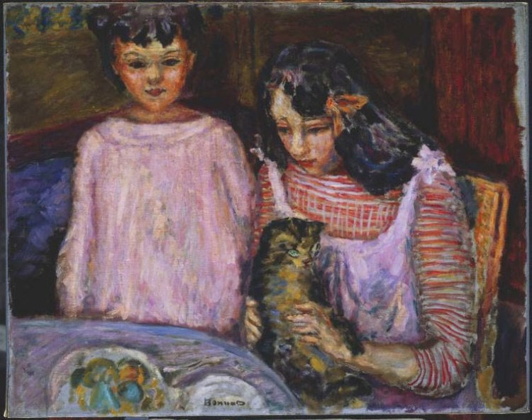 759px-Pierre_Bonnard,_1909_-_Children_and_Cat