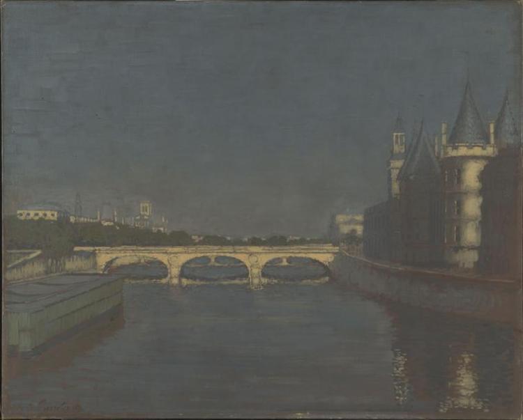Le Pont au Change, Paris La Gandara Antonio de (1862-1917) Beauvais, MUDO, musée de l'Oise