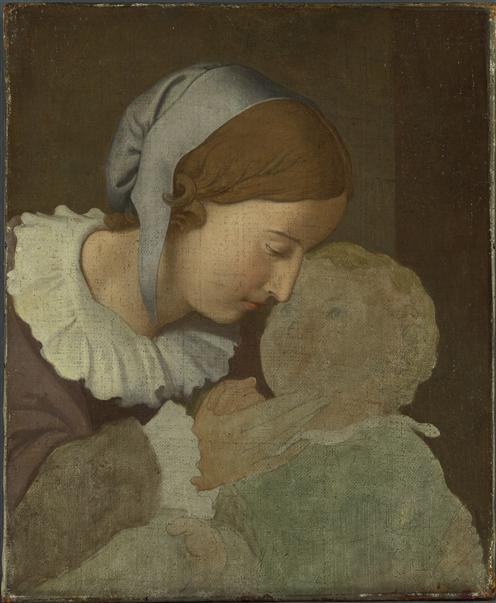 Portrait de Nina Overbeck et son fils Alphonse Overbeck Johann Friedrich (1789-1869)