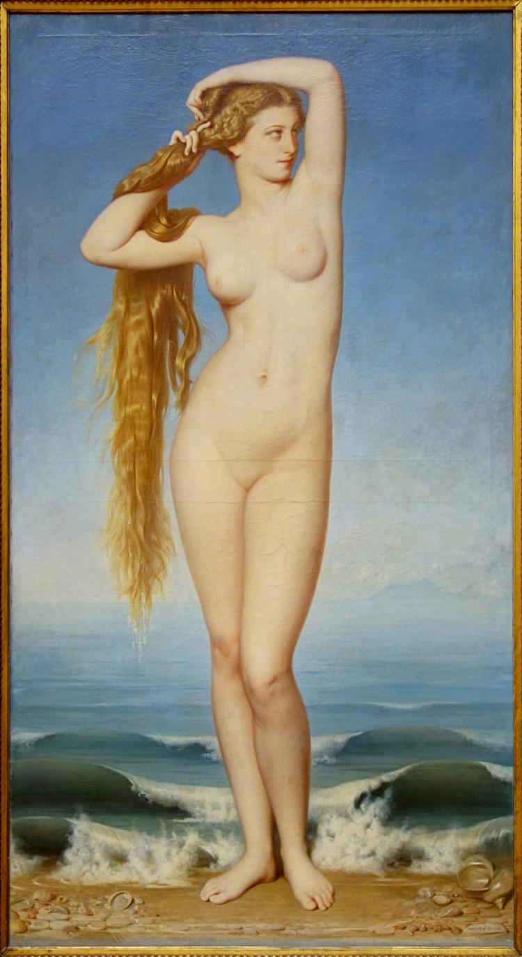 Eugène-Emmanuel-Amaury PINEU-DUVAL (1808-1885), La Naissance de Vénus, 1862, huile sur toile, 197 x 109 cm. Lille, palais des beaux-arts.jpg