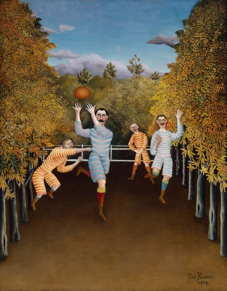 Les Joueurs de Football, Le Douanier Rousseau (1844-1910), huile sur toile, 80,3 x 100,3 cm,New-York (NY), The Solomon R. Guggenheim Museum