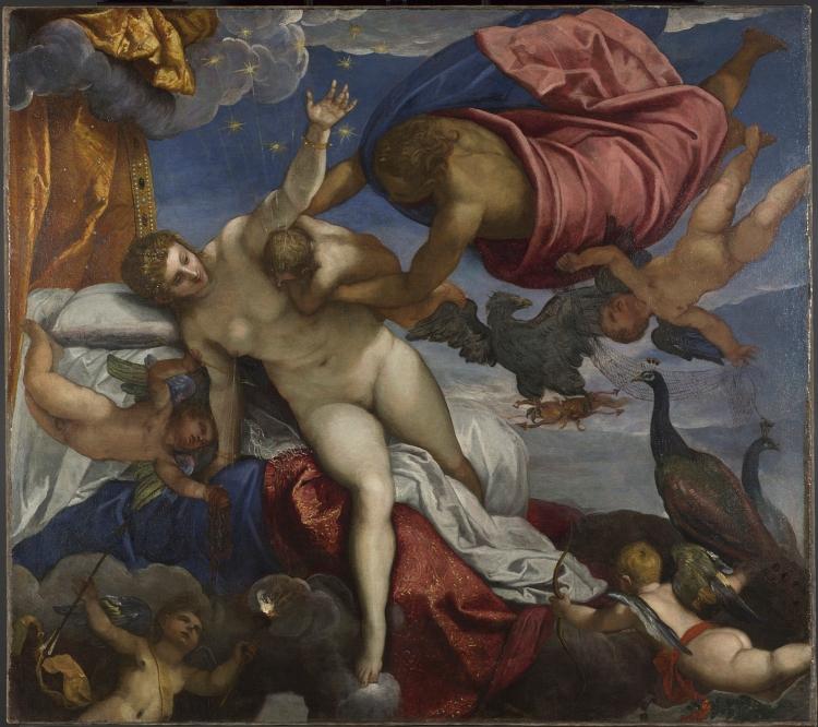 L'Origine de la voie lactée, vers 1575, Jacopo Robusti, dit Tintoretto,Le Tintoret (1518 ou 1519- 1594), Huile sur toile, 149,4 x 168 cm, Londres The National Gallery