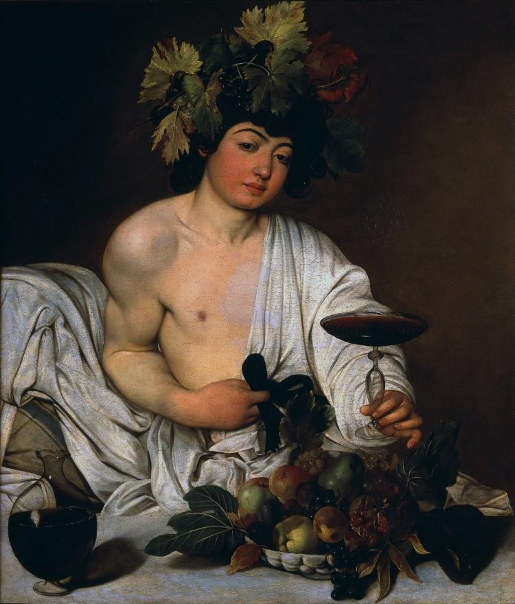Bacchus, ca 1593-1602, Le Caravage (1571-1610), huile sur toile, 95 x 85 cm, Florence, Galerie des Offices .jpg