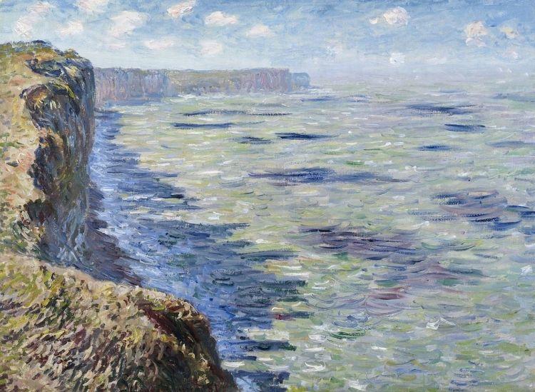 Étude de mer vue des falaises, 1881, Claude Monet (1840-1926), huile sur toile, 6à X 81 cm, Collection privée