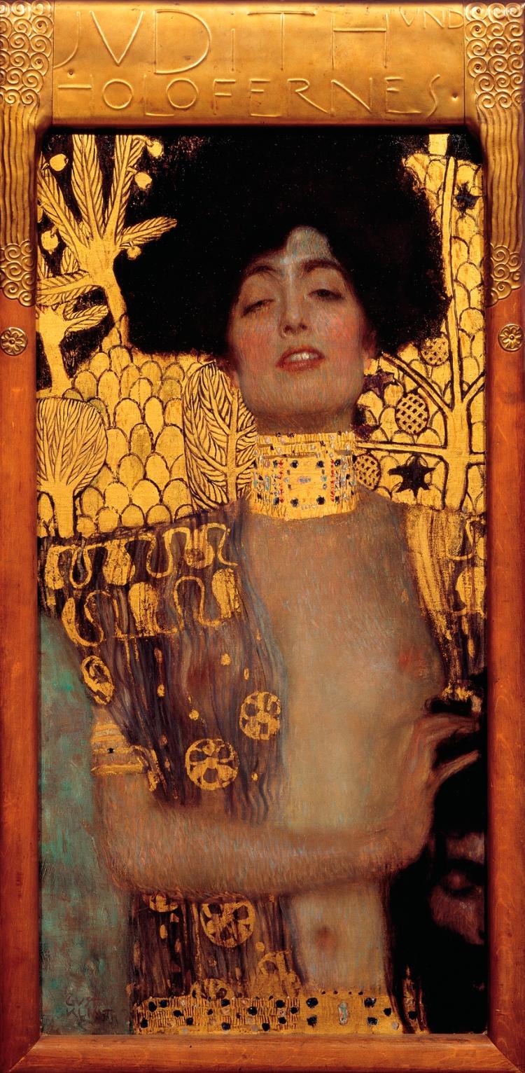 Judith-et-Holopherne,-1901,-Gustav-Klimt-(1862-1918),-huile-sur-toile,-placage-or,-84-x-42-cm,-Vienne,- Österreichische-Galerie-Belvedere-