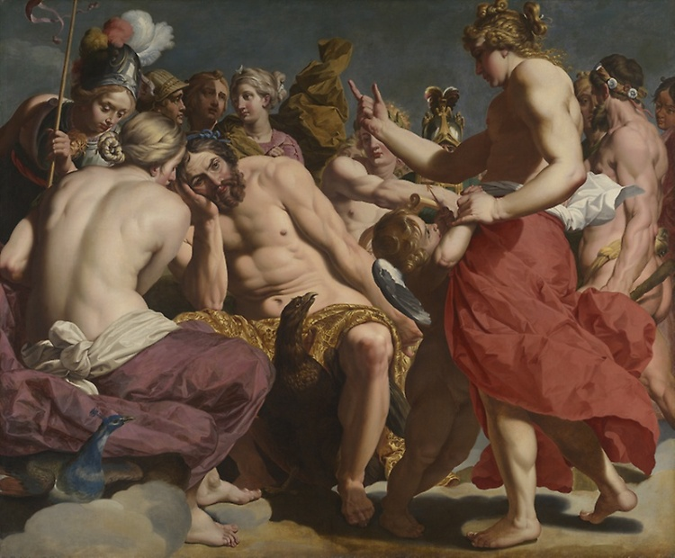 Jupiter réprimandé par Vénus, vers 1612-1613, Abraham Janssens (1575-1632), huile sur toile, 197,5 x 237,5 cm, Chicago, The Art Institute of Chicago