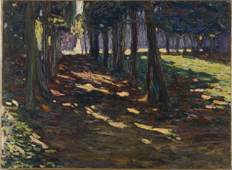 Le Parc de Saint-Cloud, allée ombragée, 1906, Vassily Kandinsky (1866-1944), huile sur toile, 48 x 65 cm, Paris, Centre Pompidou - Musée national d'art moderne