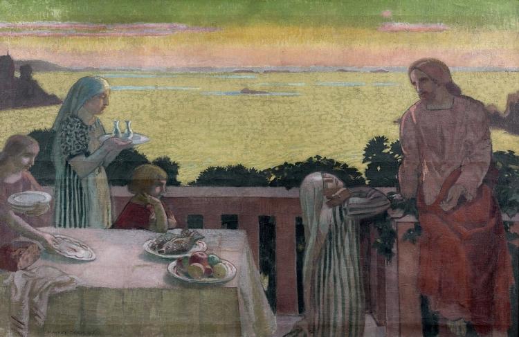 Perros-Guirec, Jésus chez Marthe et Marie, 1917, Maurice DENIS (1870-1943), huile sur toile, 102 x 157 cm, Collection privée
