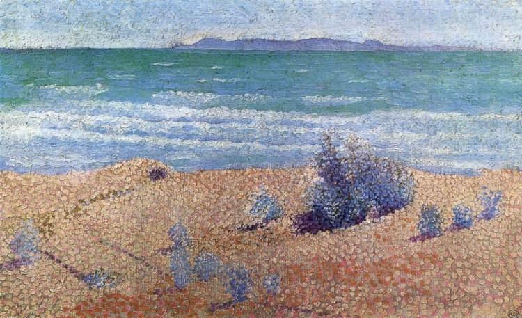 Plage sur la Méditerranée, 1891-92, Henri-Edmond Cross (1856-1910), huile sur toile, collection particulière
