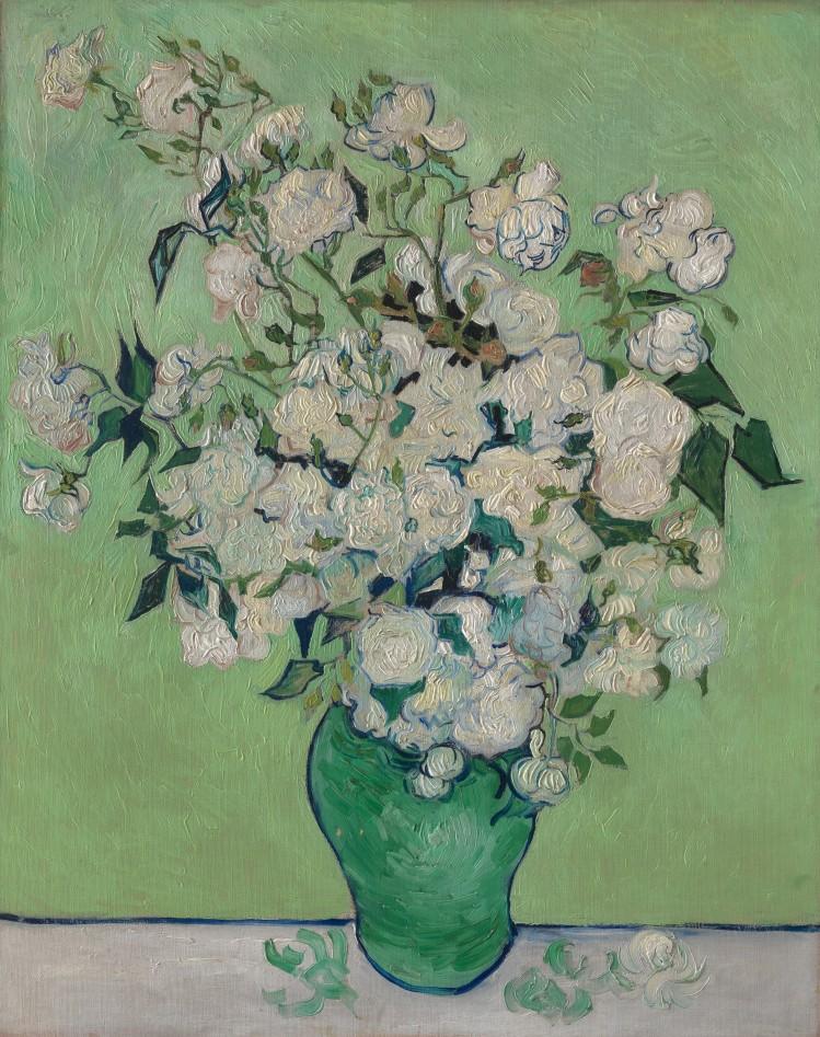 Roses, 1890, Vincent van Gogh (1853-1890), huile sur toile, 93 x 74 cm, NY, The Metropolitan Museum of Art
