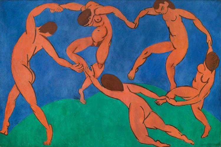 Henri Matisse, La Danse, 1909-1910,Saint-Pétersbourg, musée de l_Ermitage.Huile sur toile, 260 × 391 cm.