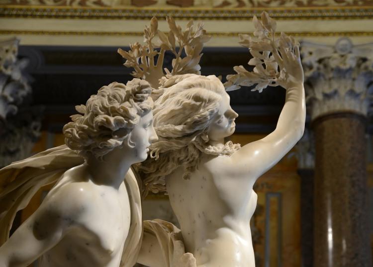 Apollon et Daphné,1622_1625, Gian Lorenzo Bernini, dit Le Bernin (1598-1680), marbre, H 243 cm., Rome Galerie Borghèse