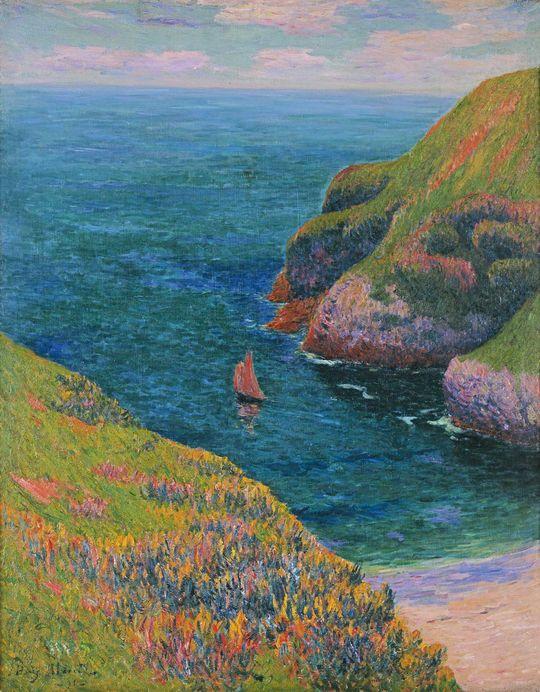 Henry Moret (1856-1913) - Goulphar, Belle-île, 1895 - Huile sur toile, 92 x 73 cm - Dépôt du musée d'Orsay, Paris au musée des beaux-arts de Quimper © Musée des beaux-arts